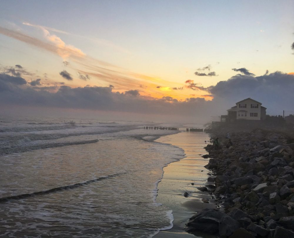 Sunset at Folly Beach, South Carolina