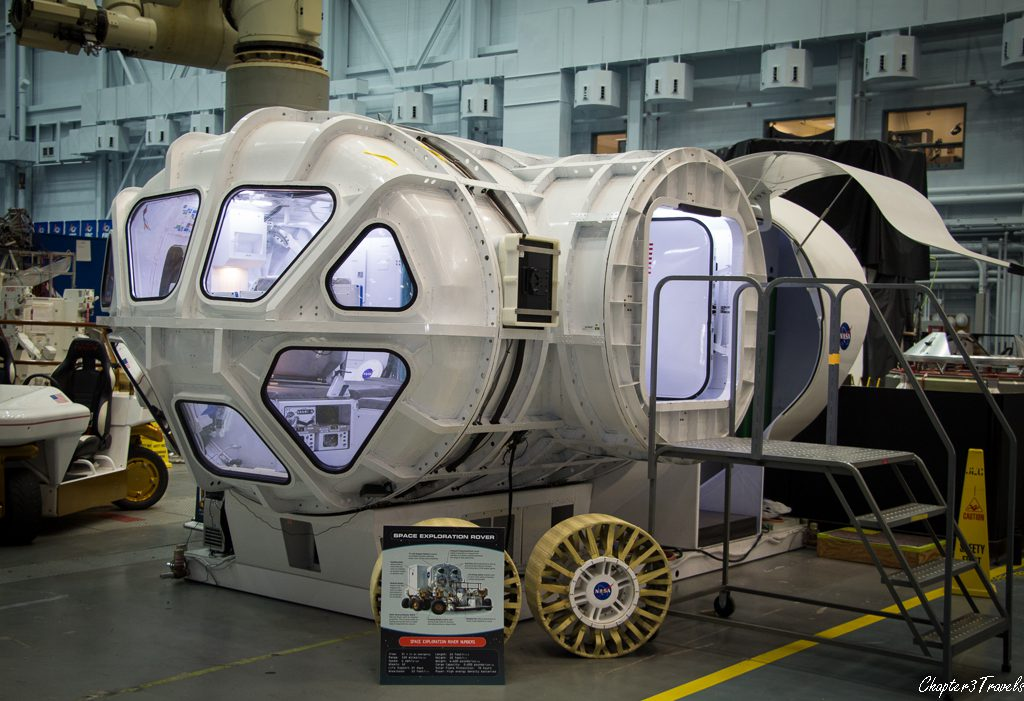A rover of the future in Building 9 at Johnson Space Center