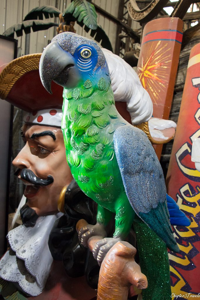 Detailed character props at Mardi Gras World