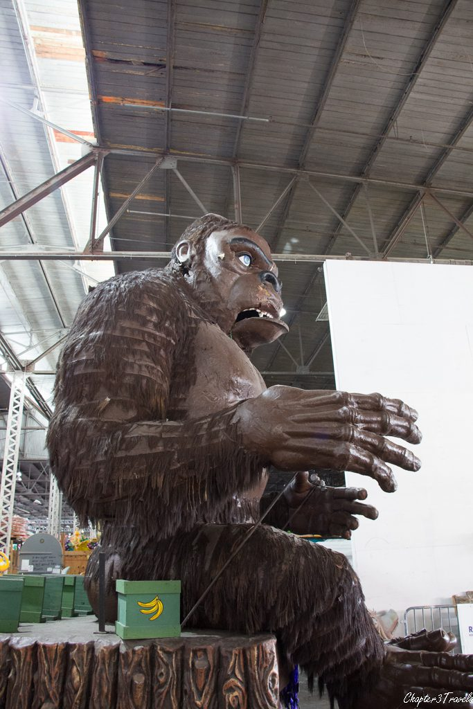 King Kong prop at Mardi Gras World