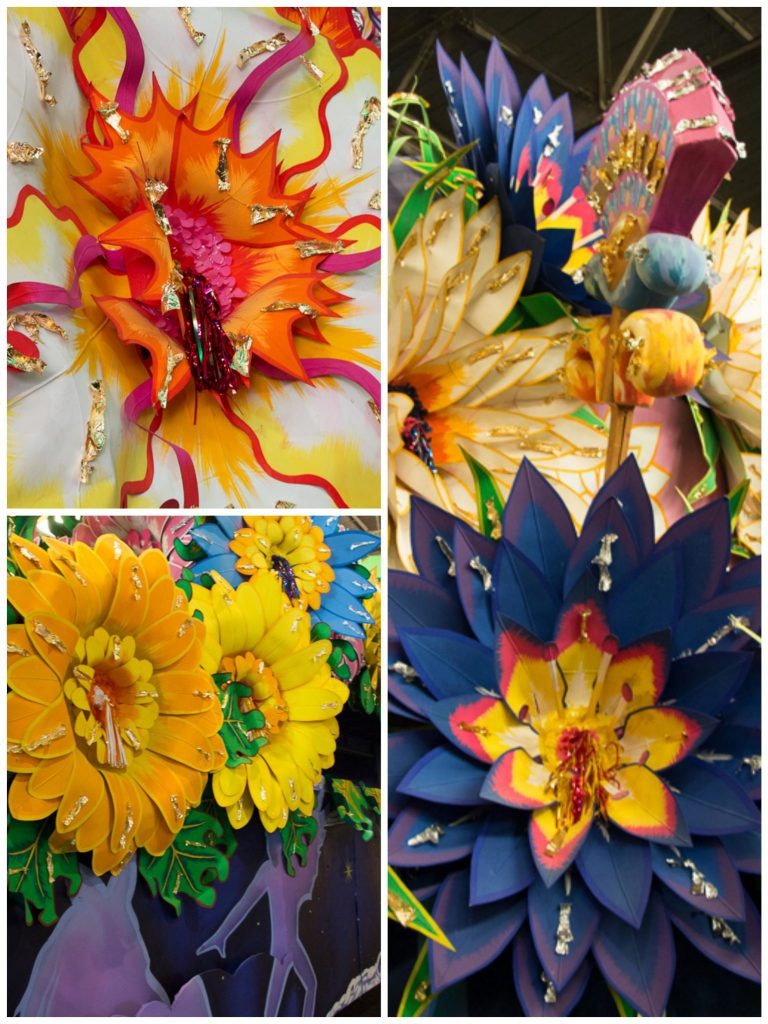 prop-flowers for Mardi Gras floats