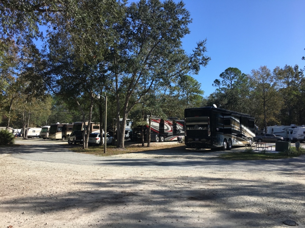 RVs parked at Compass RV