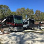 RVs parked at Compass RV Park