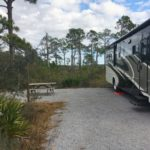 Large private campsite at Grayton Beach State Park.