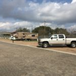 Row of campsites at French Quarter RV Park