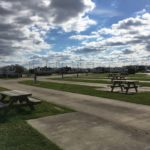Campsites at Gulf Coast RV Resort in Beaumont, Texas.