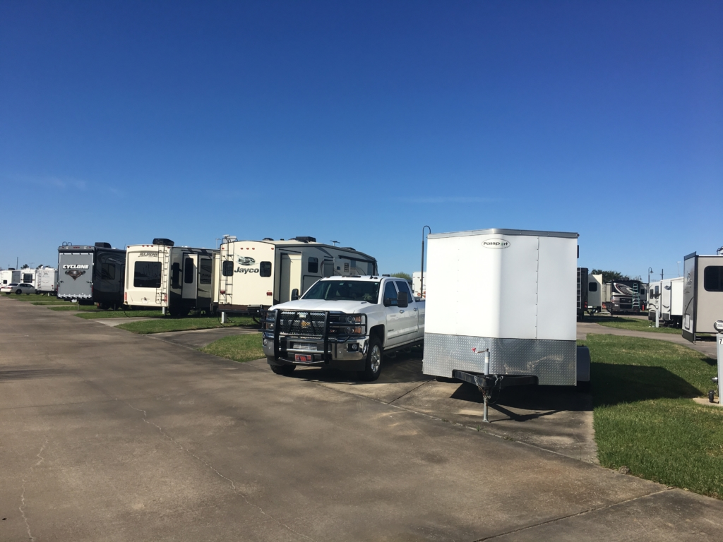 RVs parked at Gulf Coast RV Resort.
