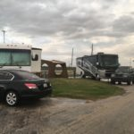 Campsite on the beach side at Galveston Island State Park