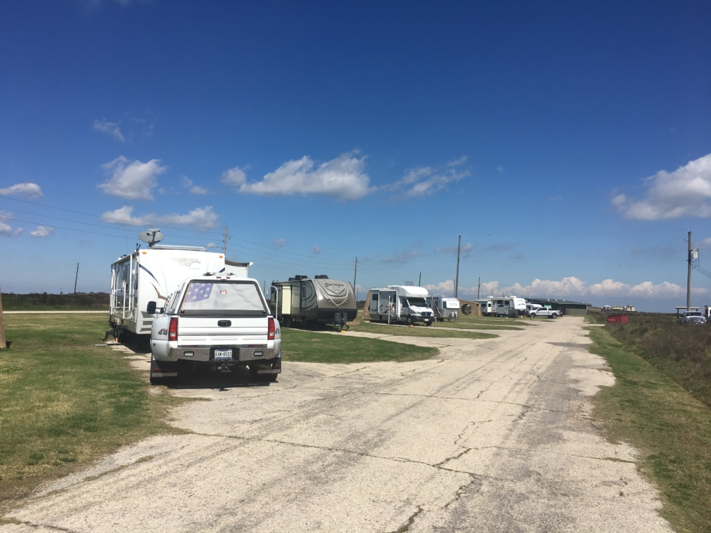 Campsites on the beach side of Galveston Island State Park