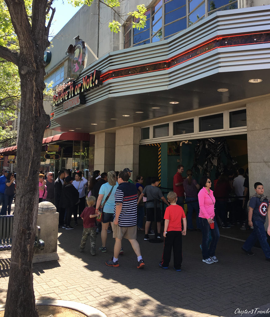 Crowds of people in front of the Ripley's Believe it or Not