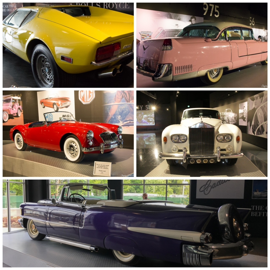 Collage of vintage cars
