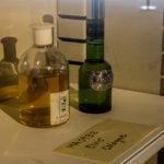 Bottles of cologne
