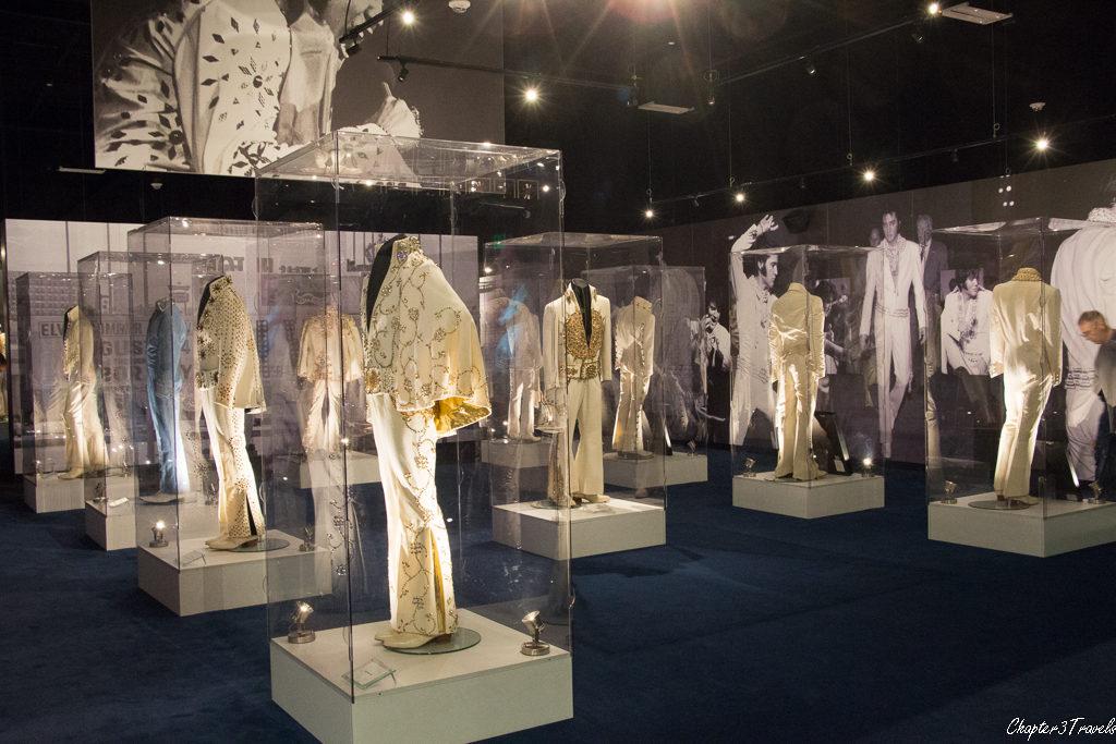 Display of Elvis's jumpsuits