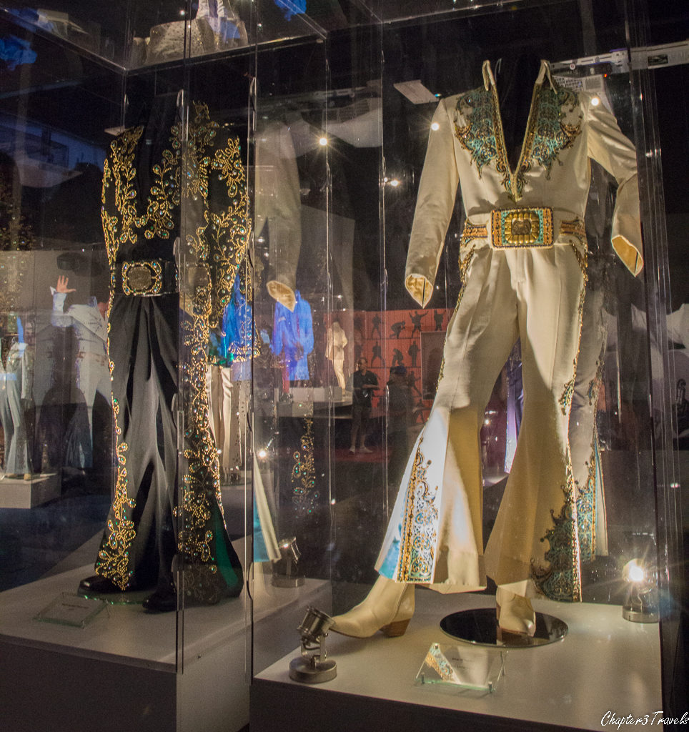 Elvis's black and white jumpsuits