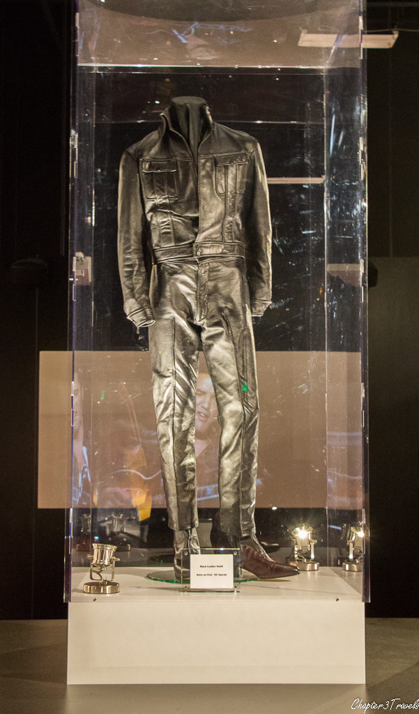 Elvis's black leather jacket and pants