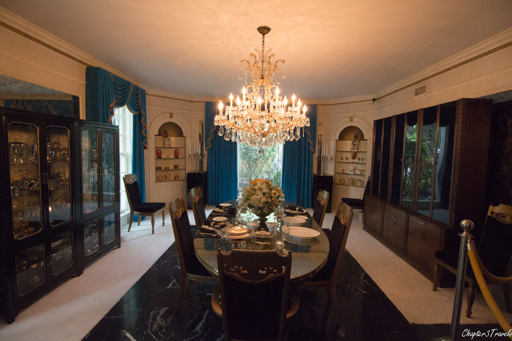 The dining room at Graceland