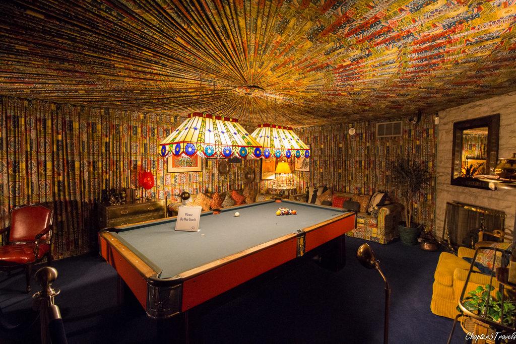 Game room at Graceland