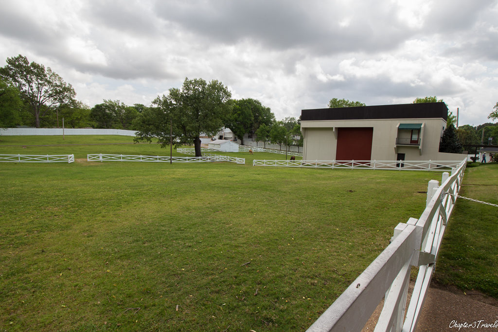 Stables and fields at Graceland