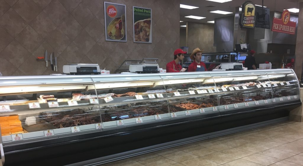 Food counter at Buc-ee's