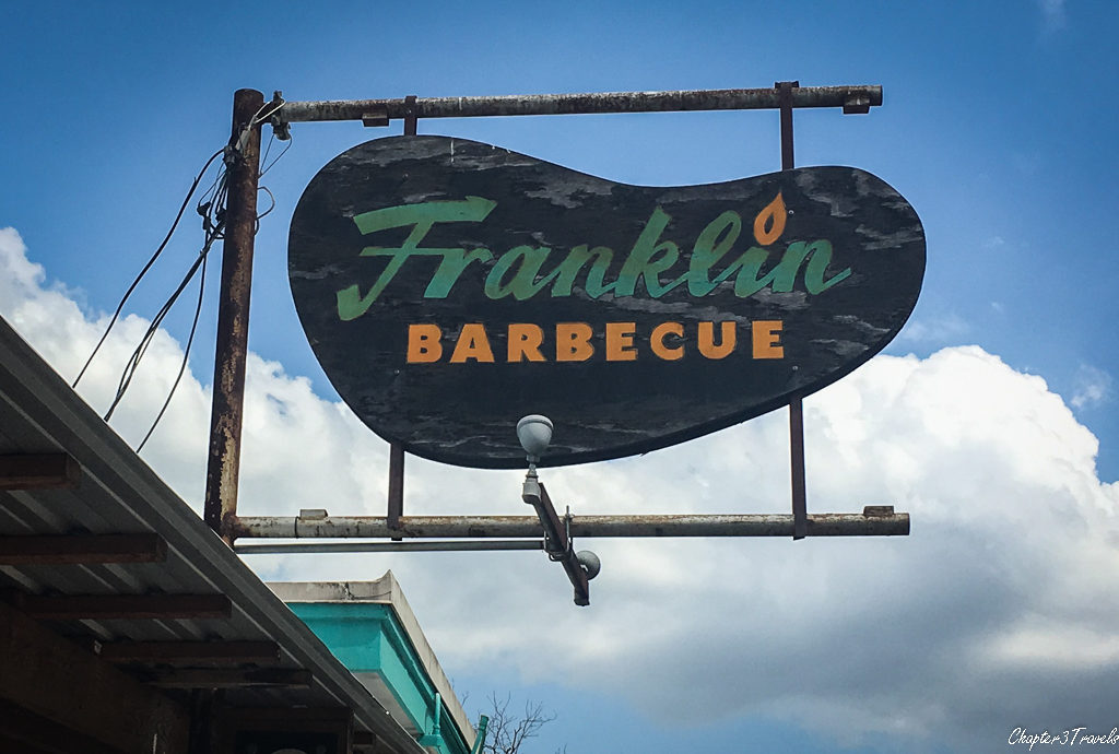 Sign for Franklin Barbecue