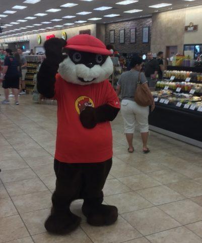 a Buc-ee's mascot