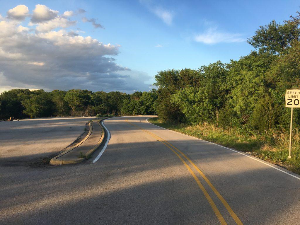 Road in Cedar Hill State Park