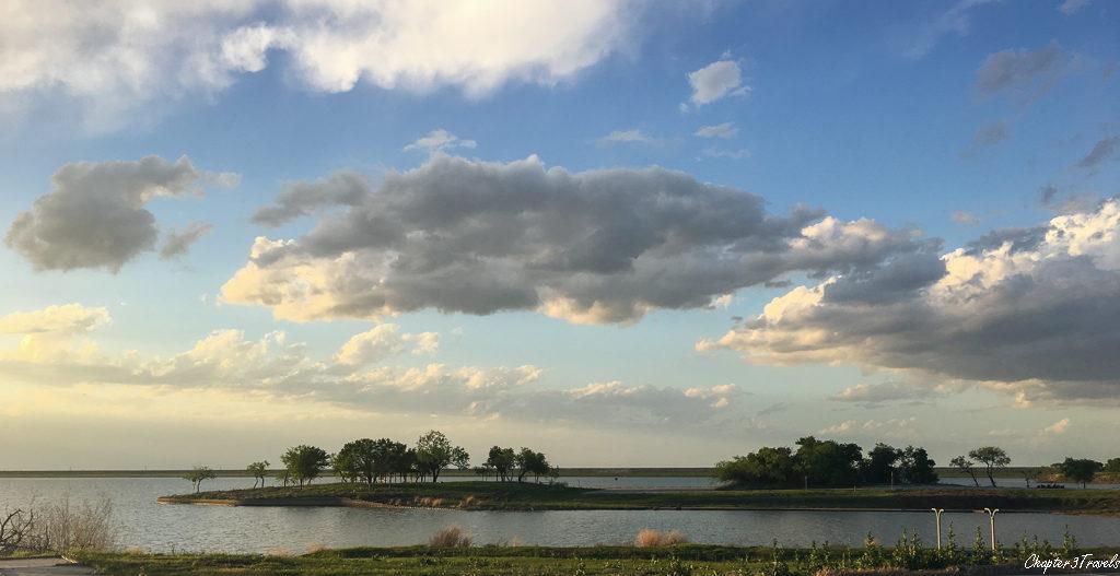 Lake views at Cedar Hill State Park