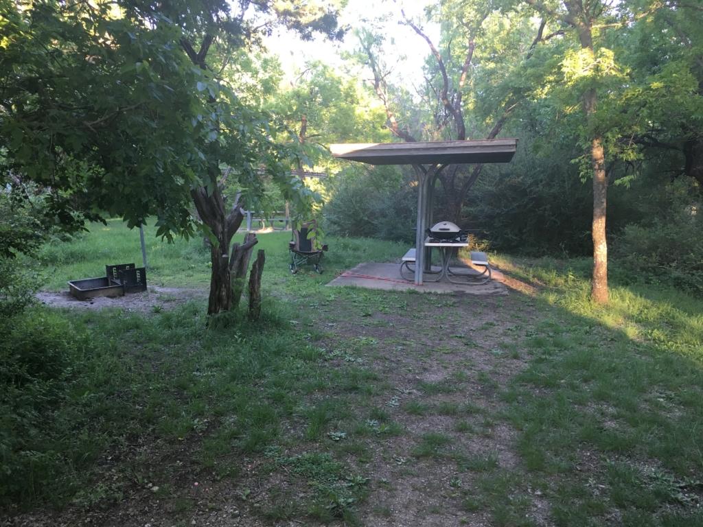 Cedar Hill campground campsite