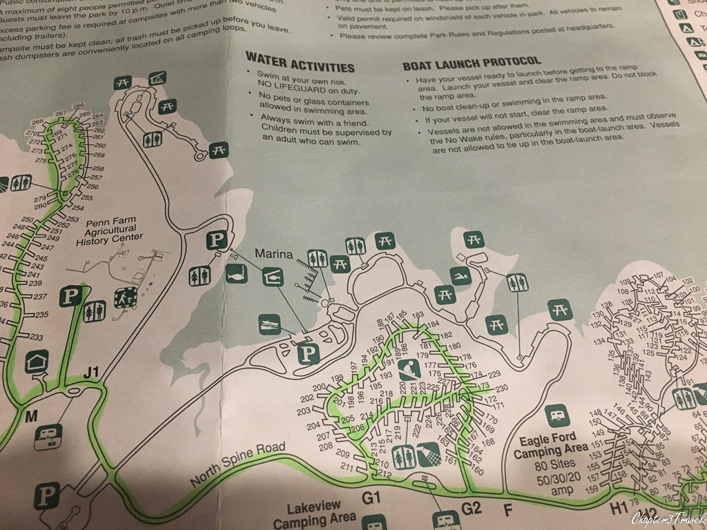 Map of Cedar Hill State Park campground