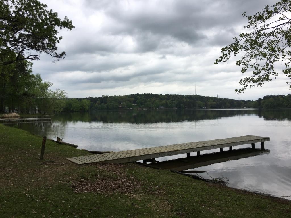 Dock on lake at Lake Catherine State Park