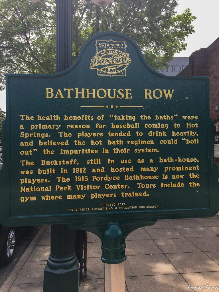 Historic street sign in Hot Springs, Arkansas