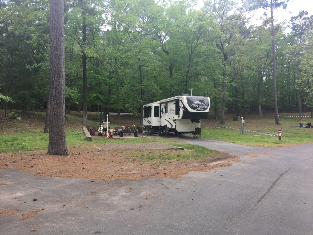 Non-lakeside campsite at Lake Catherine State Park