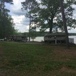 Campers parked next to one another at Lake Catherine State Park