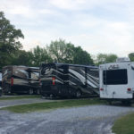 RV's parked at Graceland RV park