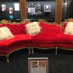 Bright red sofa