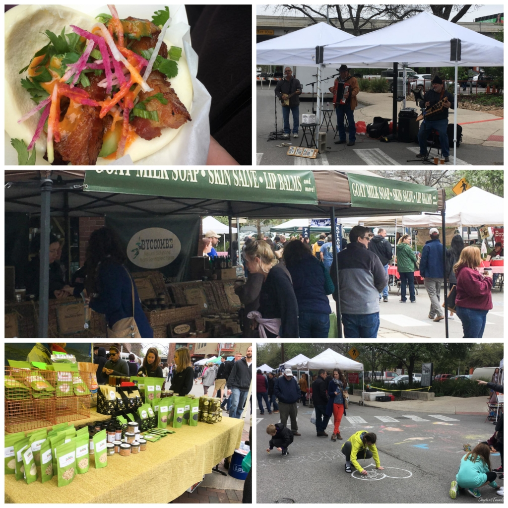 Collage of photos from Pearl Farmers Market