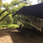 Photograph of our camp site at McKinney Falls State Park
