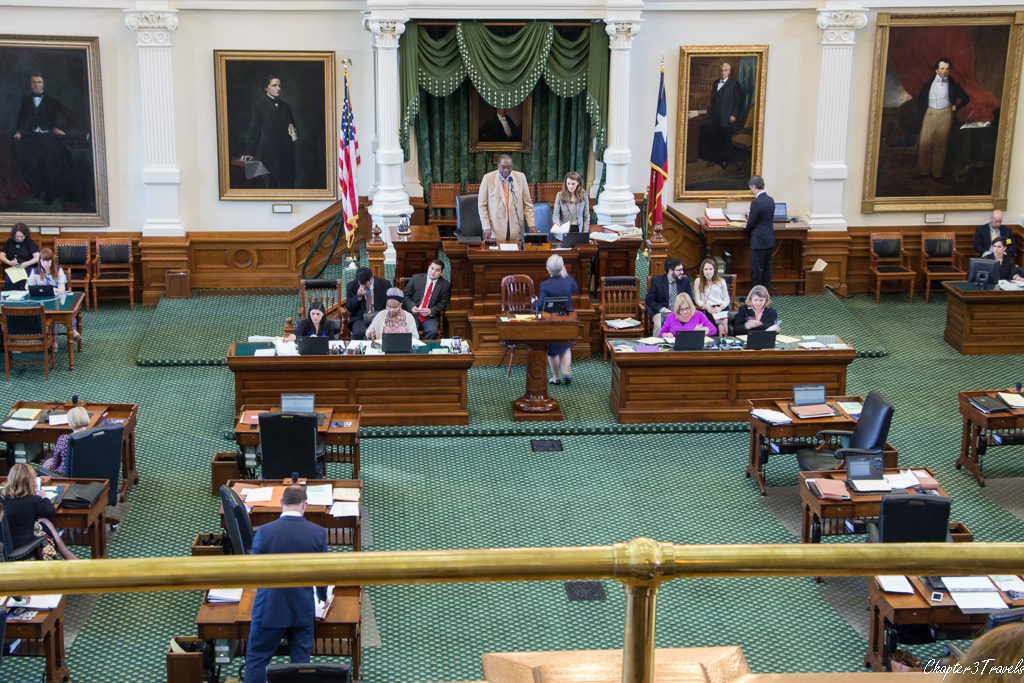 The Texas Senate in session