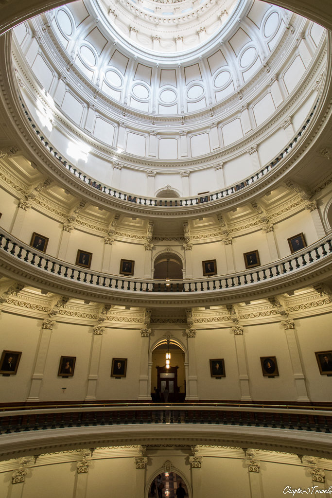 Inside the dome of the Texas State Capitol