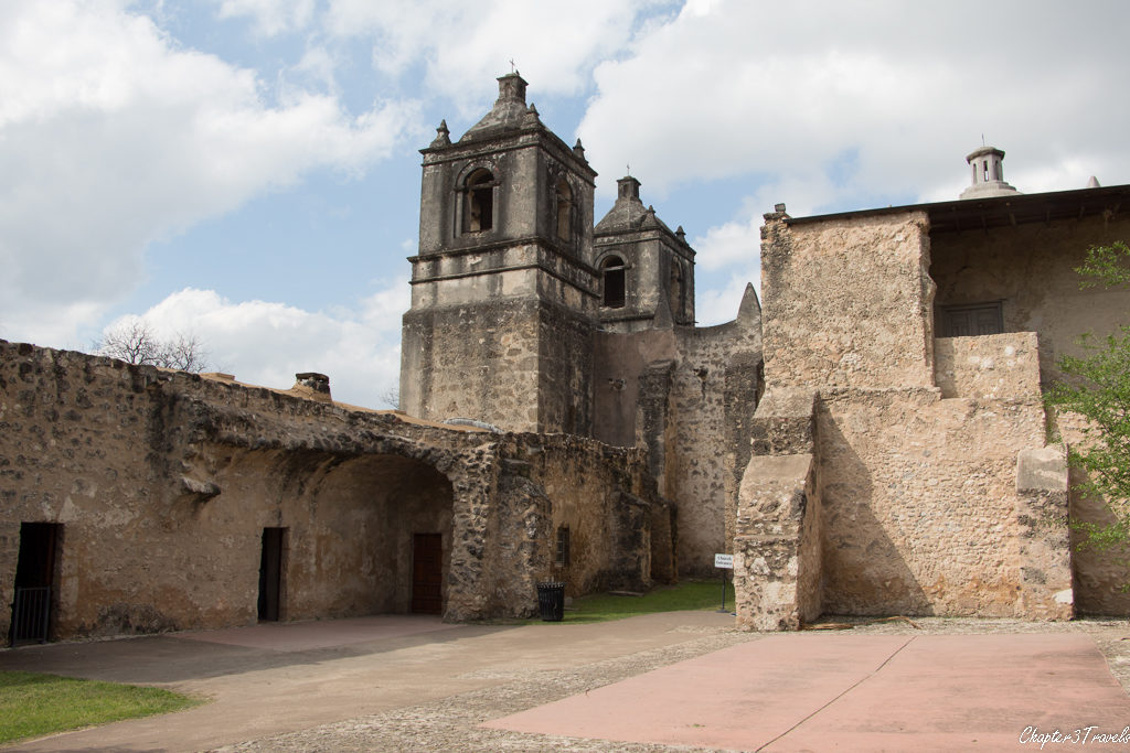 Interior courtyard of Mission Concepcion