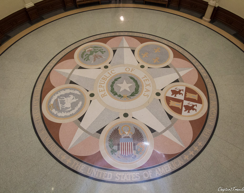 Photo of floor of Texas Capitol rotunda