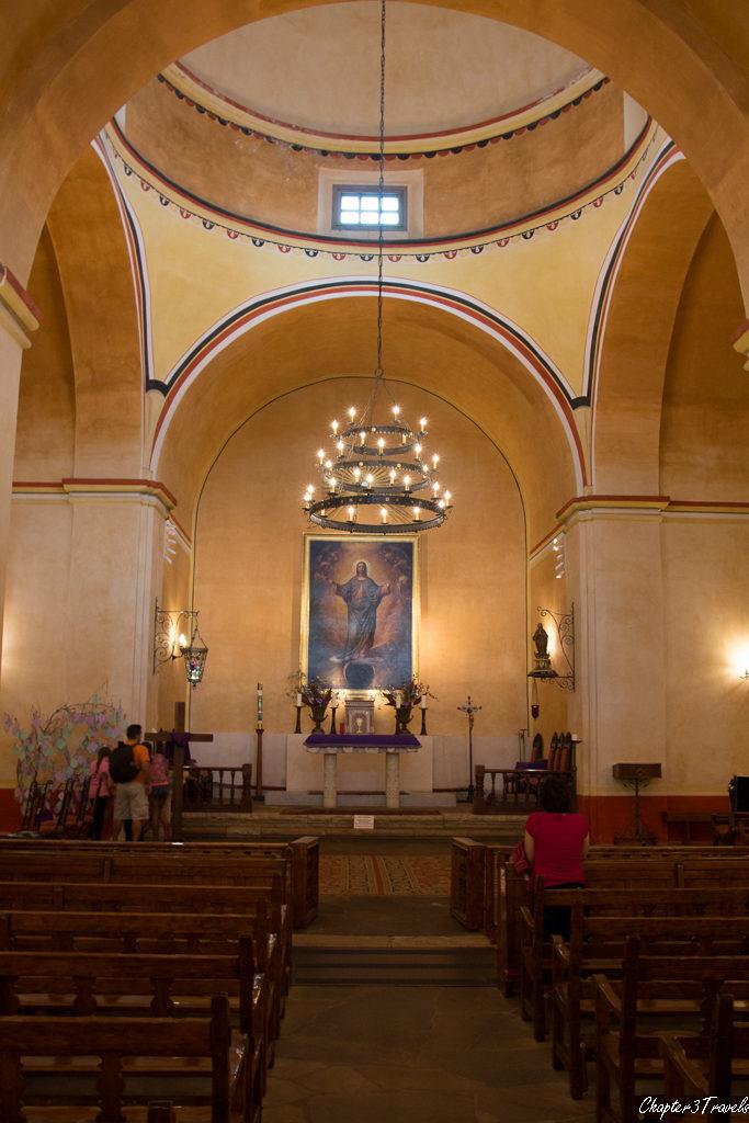 Interior of Mission Concepcion church