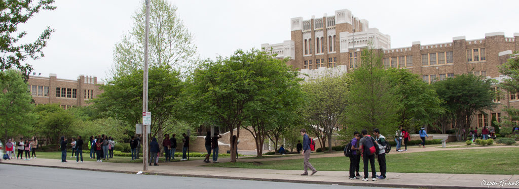 Kids congregating in front of present day Central High