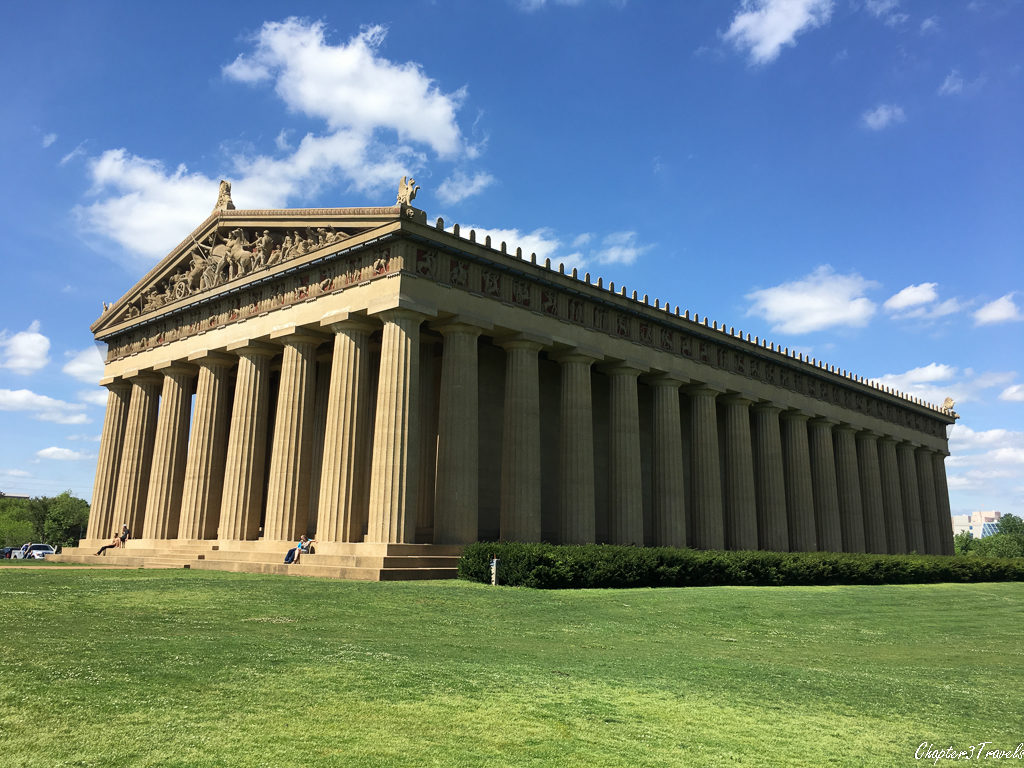 A full size replica of the Parthenon, located in Nashville, Tennessee
