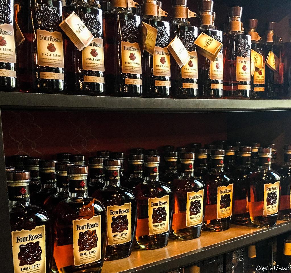 Bottles of Four Roses Bourbons