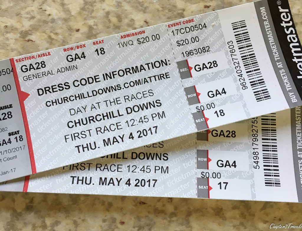 Pair of tickets to Churchill Downs