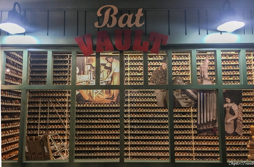 Bat vault at Louisville Slugger