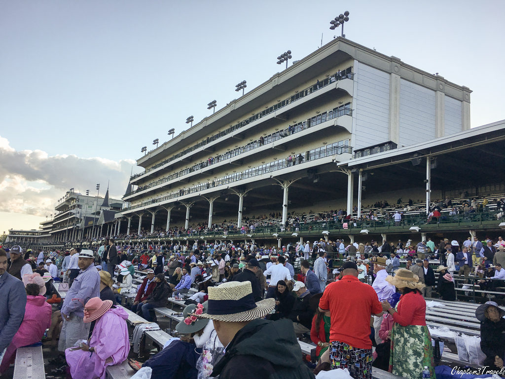 The grandstand at the Kentucky Derby