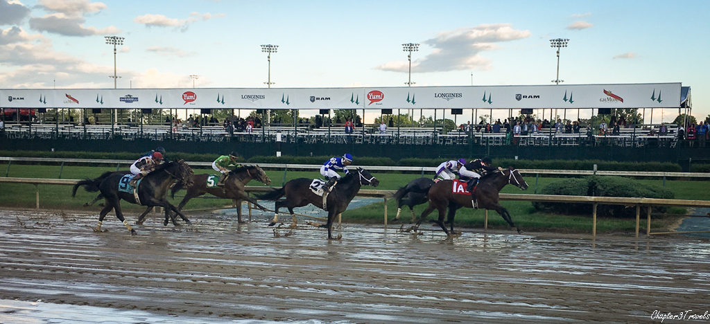 A horse race at Churchill Downs