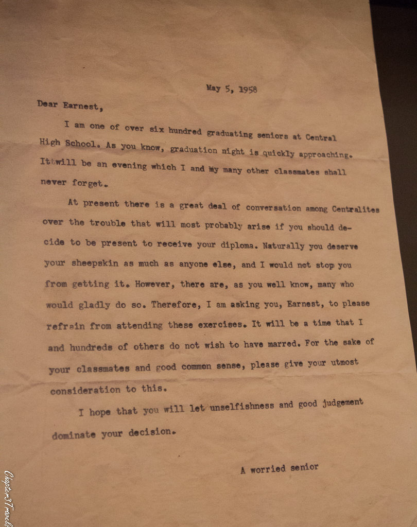 Letter from white student to black student in 1958